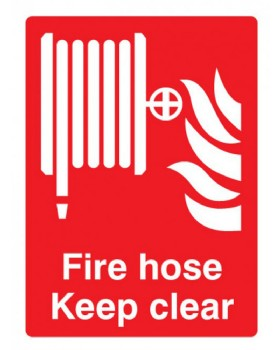 Fire Hose Reel Sign Rigid Plastic