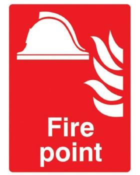 Fire Point Sign Self Adhesive Vinyl