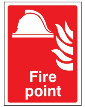 Fire Point Sign On Rigid Plastic