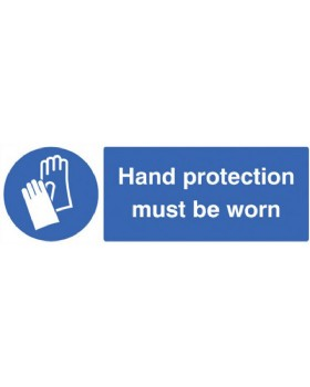 Hand Protection Must Be Worn Sign Self Adhesive Vinyl