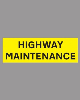 Highway Maintenance Sticker On Self Adhesive Vinyl