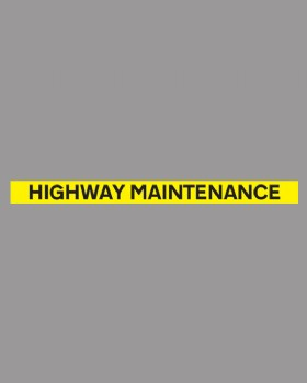 Highway Maintenance Banner On Self Adhesive Vinyl