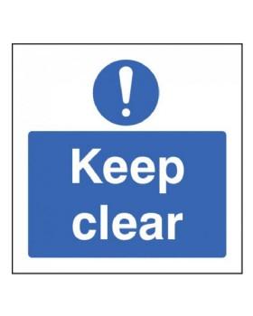 Keep Clear Sign Rigid Plastic