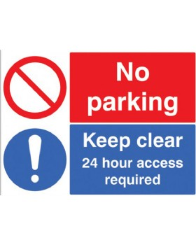 No Parking-Keep Clear 24Hr Access Required - Rigid PVC