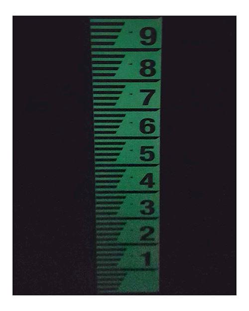 Photoluminescent Depth Gauge Board - Water Level Marker Photoluminescent