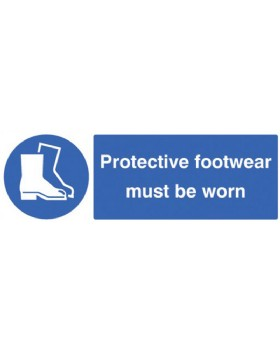 Protective Footwear Must Be Worn Self Adhesive Vinyl
