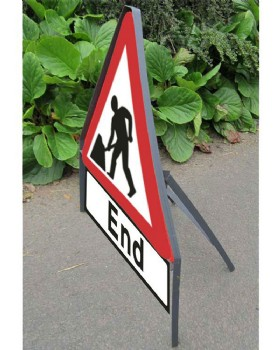 Road Sign Men At Work - Road Works Sign