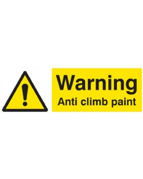 Warning Anti-Climb Paint On Rigid PVC