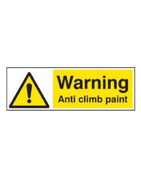 Warning Anti-Climb Paint On Rigid PVC