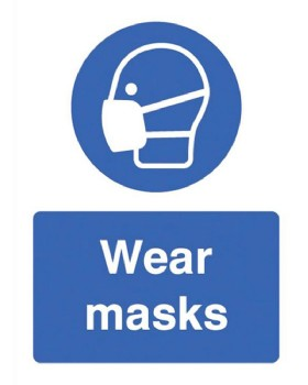 Wear Masks Sign Self Adhesive