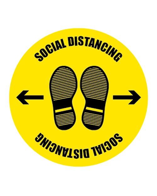 Coronavirus Social Distancing Floor Sign