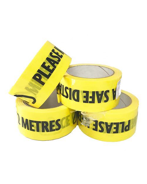 2 Metres Social Distancing - 33 metre length tape roll