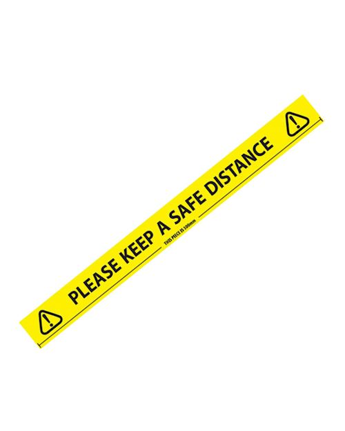 Social Distancing Warning Tape - 66 metre long roll