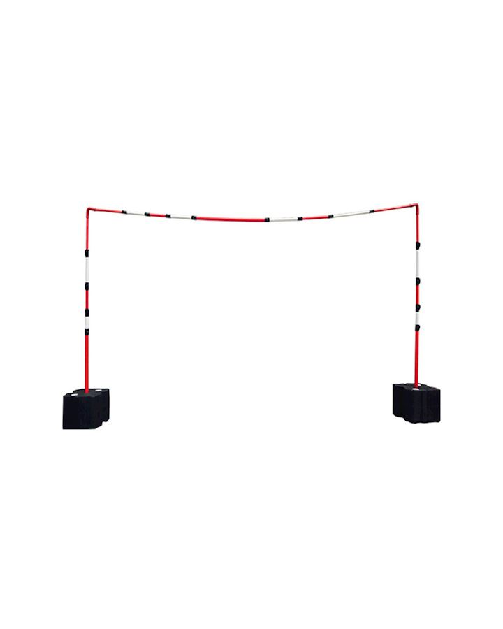 Overhead Cable Goal Posts With Solid - Telescopic Crossbar