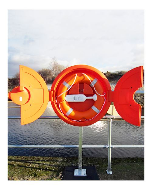 Lifebuoy Cabinet For 30 Inch Lifebuoys - Rail Mounted