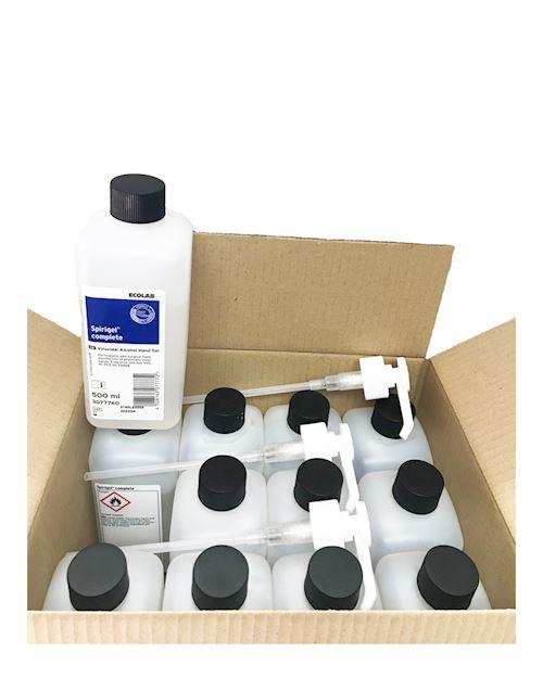 Spirigel Complete 12 x 500ml Fully Virucidal & Bactericidal Sanitizer *