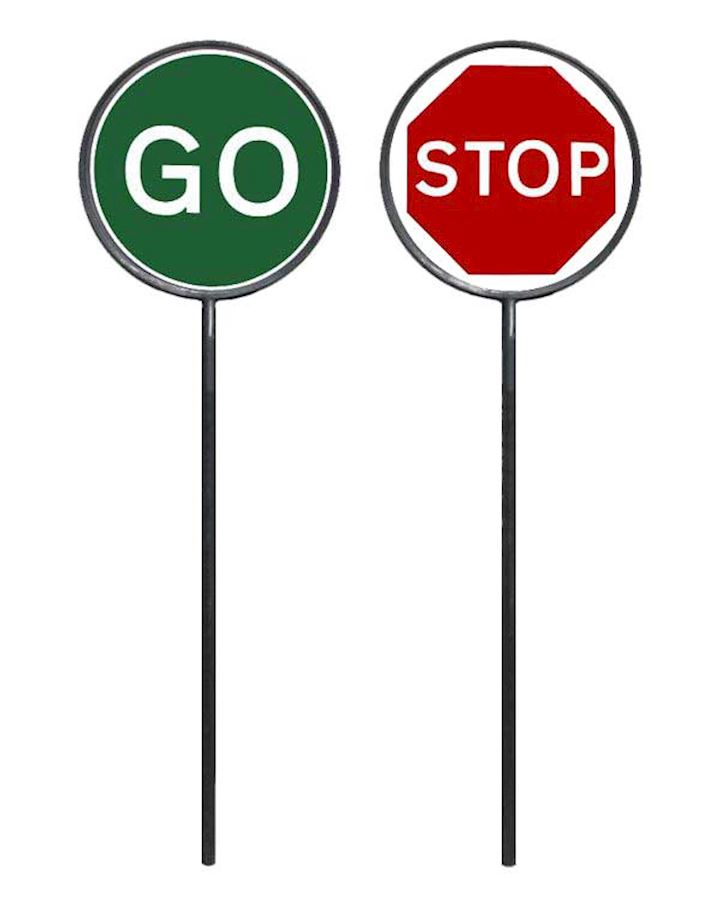Lollipop Stop And Go Traffic Sign
