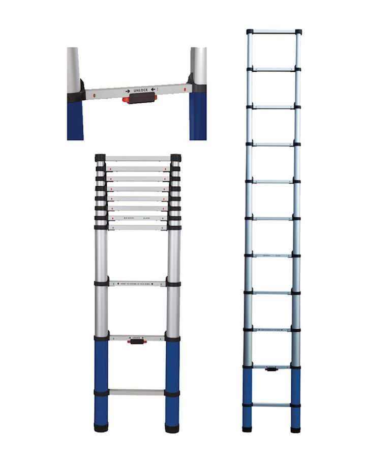 Professional Telescopic Ladder 3.2m  Self Closing