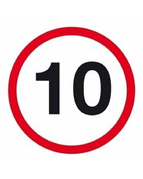 10mph Sign
