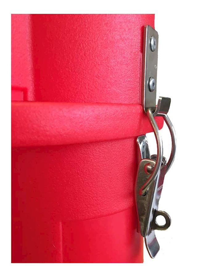 Throw Line Housing with Combination Padlock