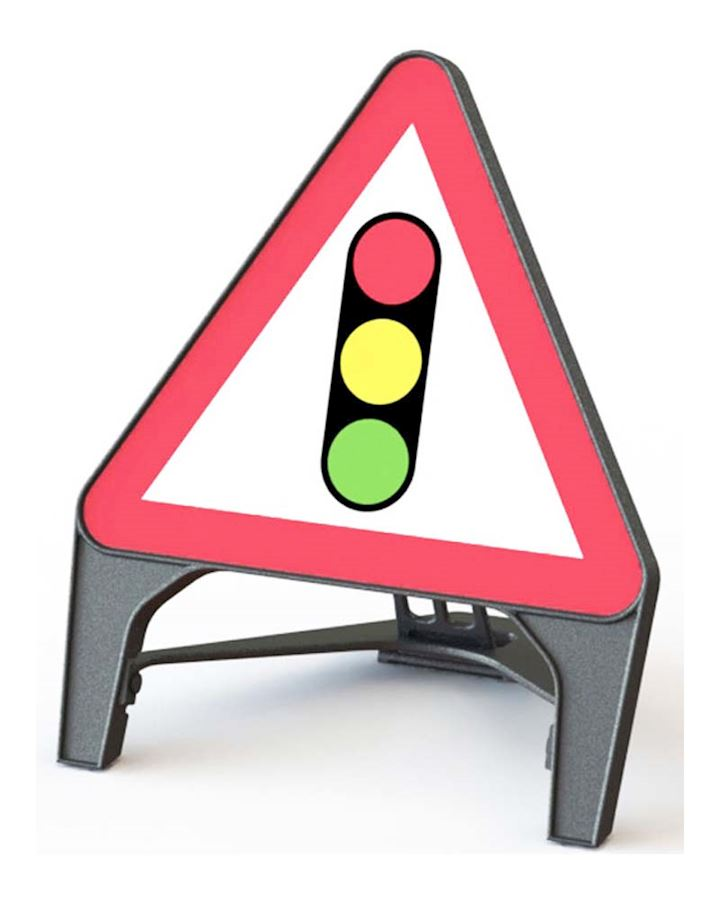 Traffic Signals Ahead Road Q Sign