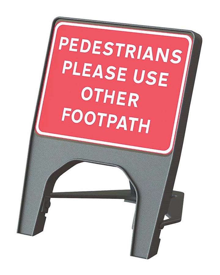 Please Use Other Footpath Road Q Sign