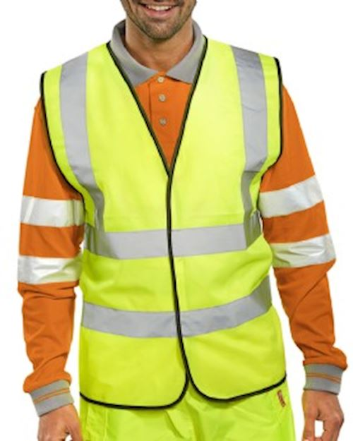 High Visibility Yellow Waist Coat Class 2