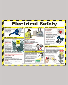 Electrical Safety First Aid Chart Wallchart