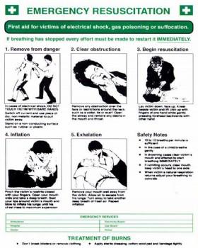 EPRUS (Emergency Resuscitation ) Wall Chart Rigid Plastic