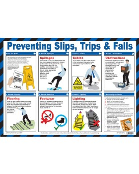 Preventing Slips Trips And Falls Wall Chart