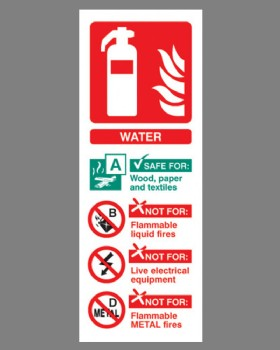 Fire Extinguisher Position Sign (Water) Rigid Plastic