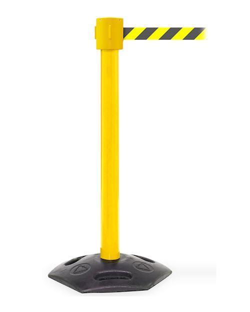 Weathermaster Retractable Barrier Post  XL - Yel