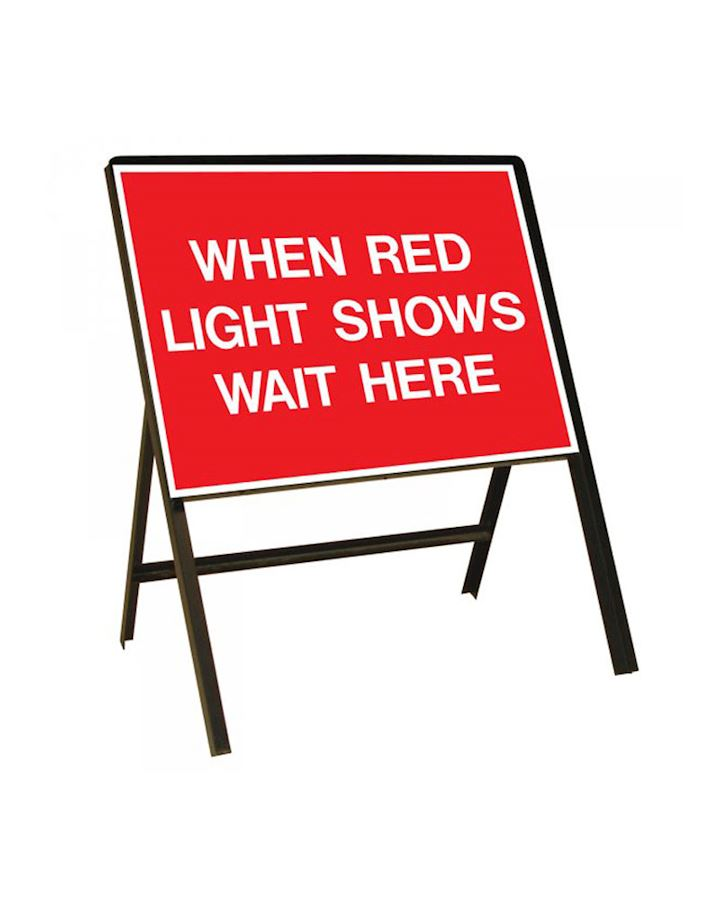 When Red Light Shows Wait Here Metal Sign Chapter 8 Red Book