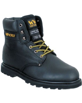 Woodworld Black SBP Black Safety Boot