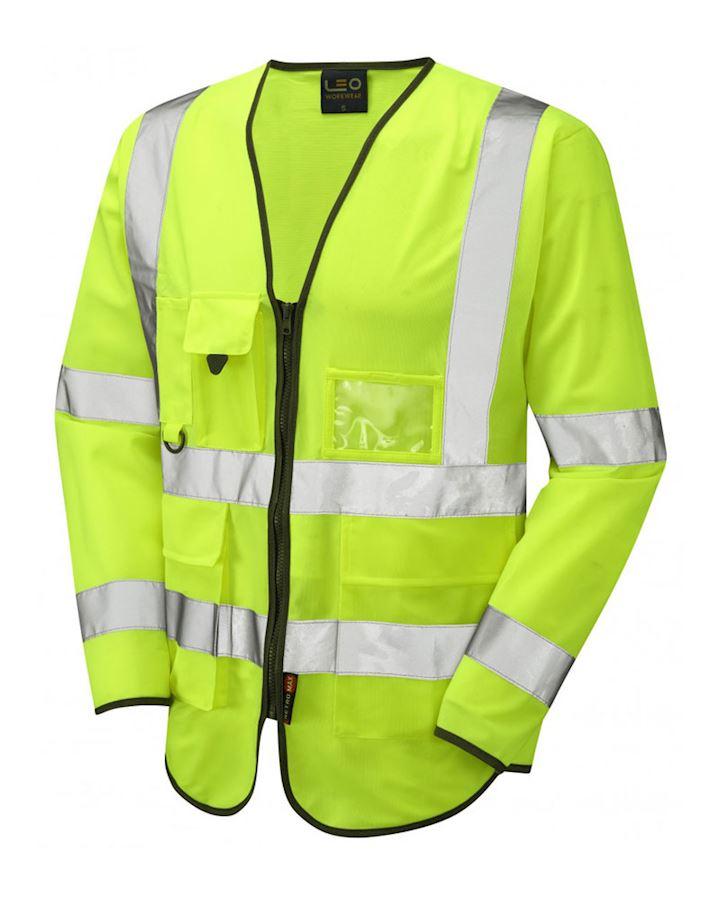 Hi Vis Yellow Superior Sleeved Waistcoat