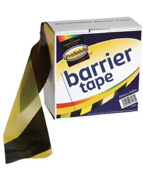Hazard Warning Barrier Tape Yellow And Black