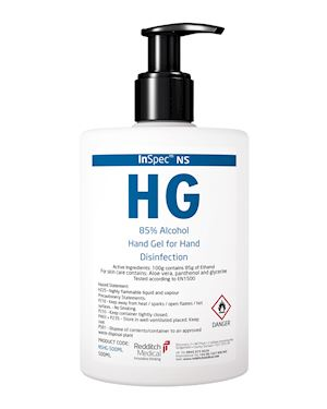 500ml 85% Alcohol Hand Gel  - Pack of 8