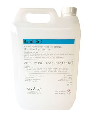 5 Litre Hand Sanitiser Gel - 70% Alcohol