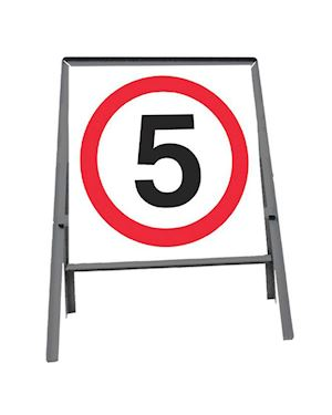 5mph Sign In Metal Frame