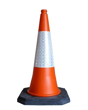 Traffic Road Cone 750 mm Two Piece Chapter 8 Red Book