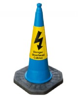 Danger Overhead Cables Cone 1m