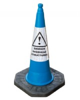 Caution Overhead Structures Cone 1m