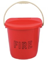 Fire Bucket Red  Plastic