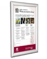 Health & Safety Law Poster -  A2 In Aluminium Frame