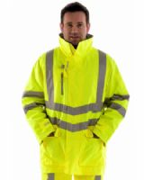 High Visibility Waterproof Storm Coat Class 3