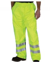 Hi Vis Yellow Waterproof Trouser - Breathable