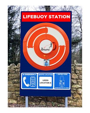 Lockable Lifebuoy Cabinet For 30 Inch buoys - Post Mountable