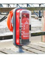 Marina Safety Station - Fire Extinguisher Cabinet & Lifebuoy Mounting