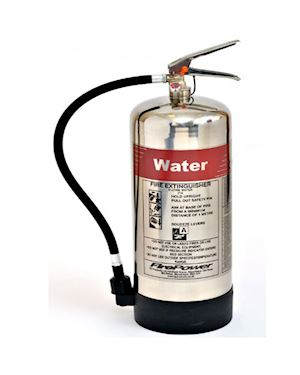 FirePower 9 Litre Water Polished Extinguisher
