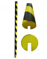 Circular Foam Edge Protector -  Slotted Edging Strip Yellow-Black